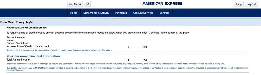 American Express Credit Limit Increase