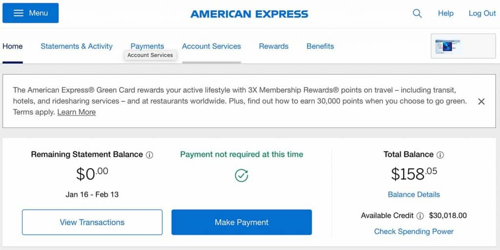 American Express Welcome