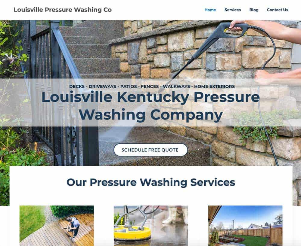 Pressure Washing Website